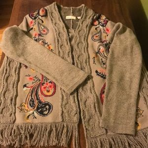 Anthropologie Sleeping On Snow cardigan sweater